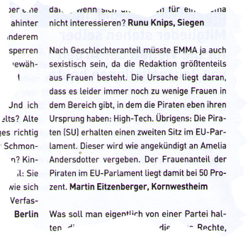 EMMA Winter 2010, Nr 294, Ausriss S. 59